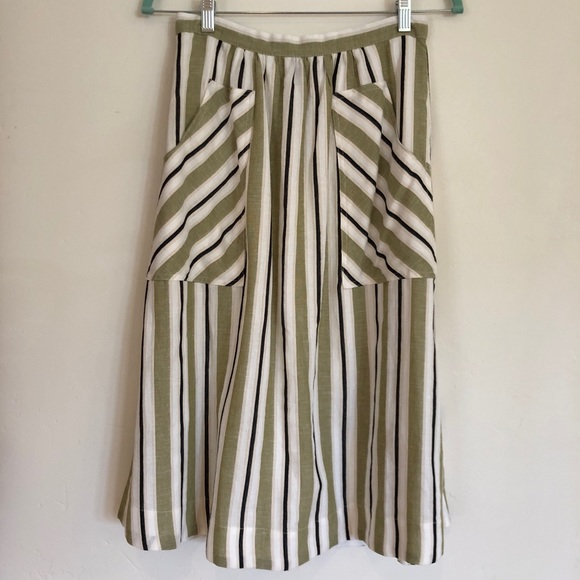 467f9e4e31 Anthropologie Skirts | Anthropolgie Akemi Kin Luria Striped Skirt ...